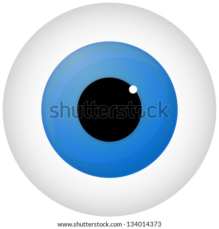Blue Eye Isolated On White