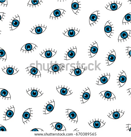 blue eye vector seamless