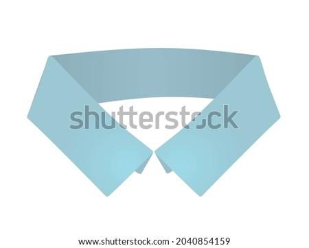 Blue fake collar. vector illustration Foto d'archivio ©
