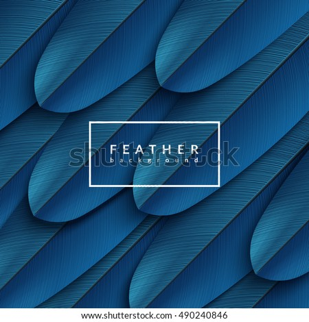 blue feather background