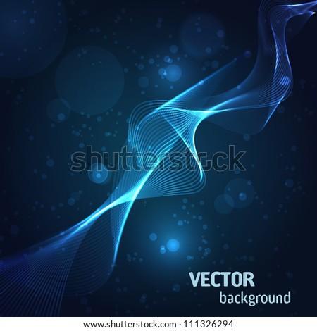 Blue flame background. Vector Illustration