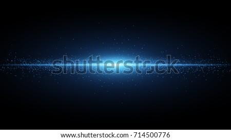 blue flash on a black