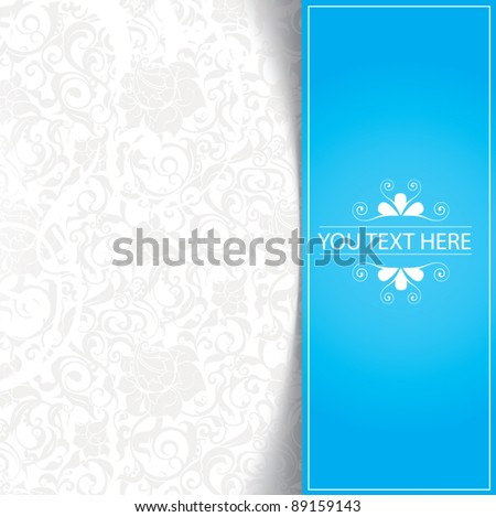 Blue floral abstract background