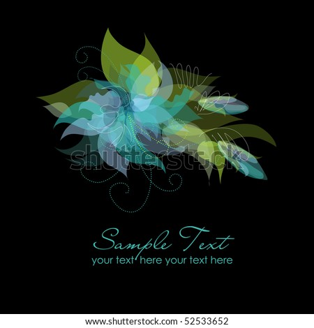 Blue Flower Background - stock vector