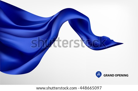 blue flying silk fabric on