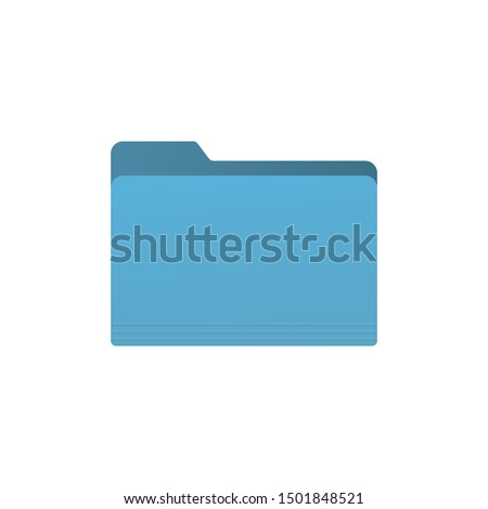 Blue folder icon isolated on white background. Document symbol modern, simple, vector, icon for website design, mobile app, ui. Vector Illustration