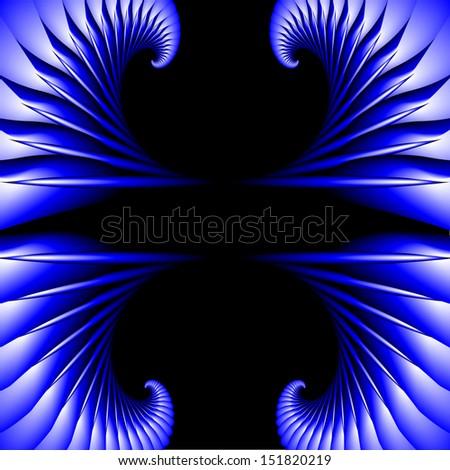 blue fractal frame