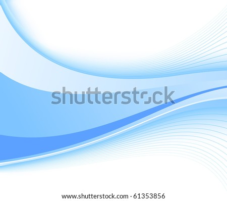 Blue fresh power wave. Vector illustration