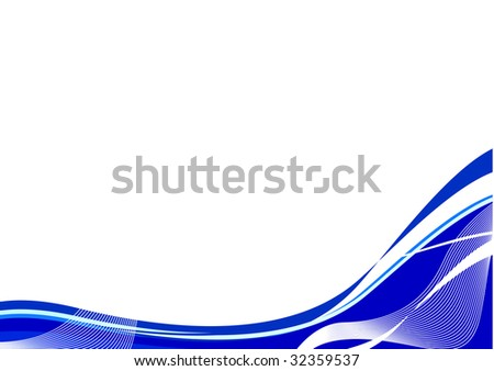 fresh water wave; clip-art