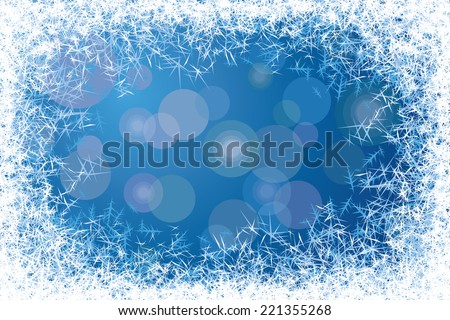 Blue frosted window. Eps8. CMYK. Organized by layers. Gradients used.