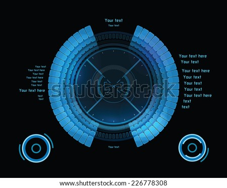 blue futuristic infographics as