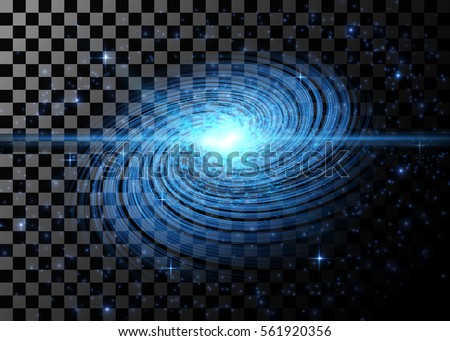 blue galaxy isolated on