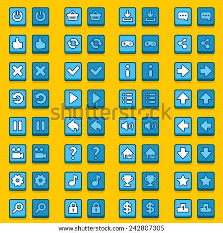 stock-vector-blue-game-icons-buttons-ico