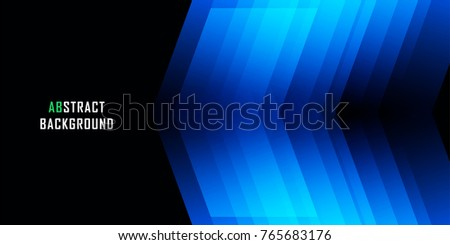 Blue geometric technological background. Template brochure, business card and layout design