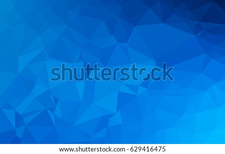 blue geometric triangular