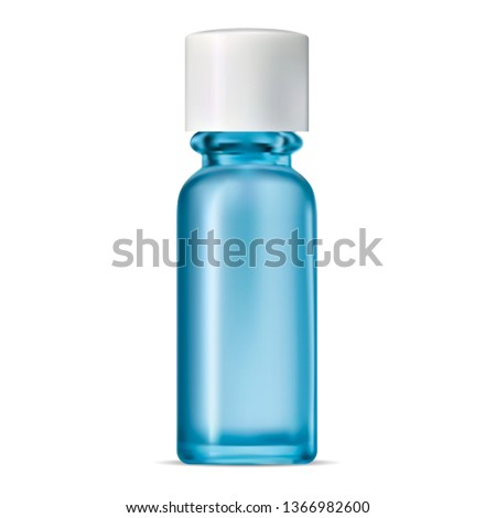 blue glass bottle isolated