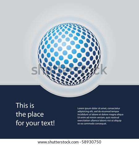 Blue Globe Design Vector