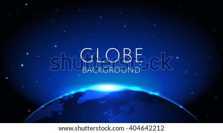 blue globe earth background