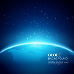 Blue globe earth background. Vector illustration EPS 10