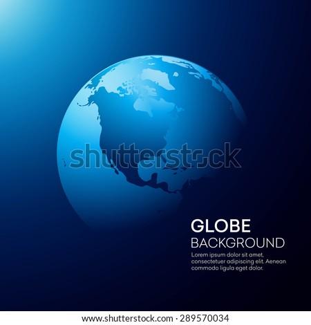blue globe earth background