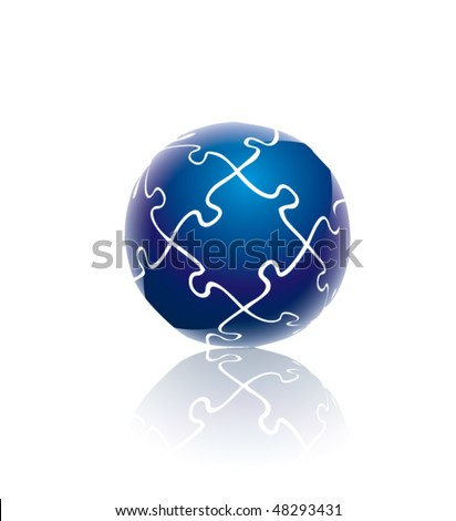 Blue globe puzzle