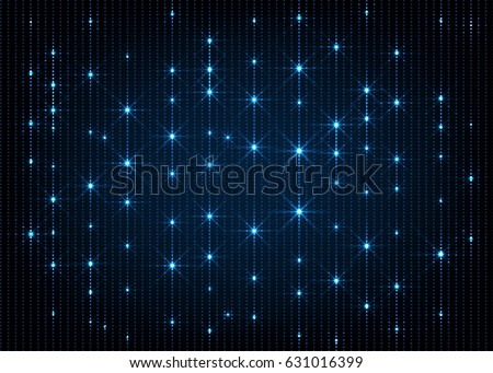 Blue glow stars lines abstract background. Vector illustration.
