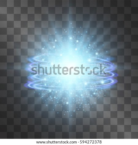 blue glow vector light effect