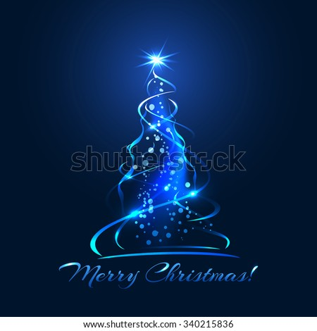 blue glow xmas tree  elegant