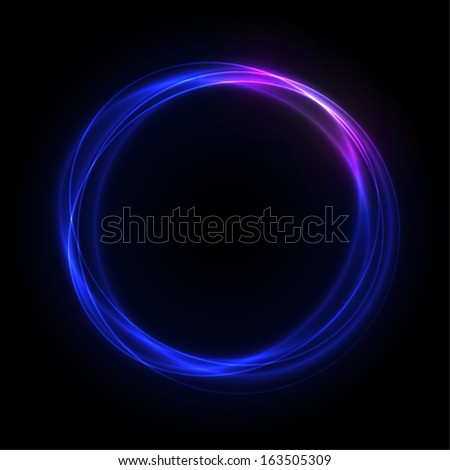 blue glowing rings with pink