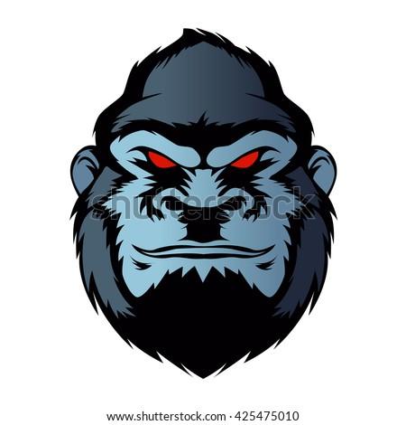 Gorilla vector head - photo#24