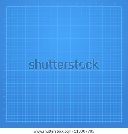 Blue Graph Paper Background Stock Vector Illustration