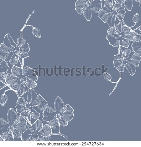 blue gray background with white