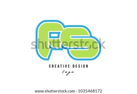 blue green alphabet letter fs f
