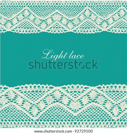 Blue-green-beige lace background
