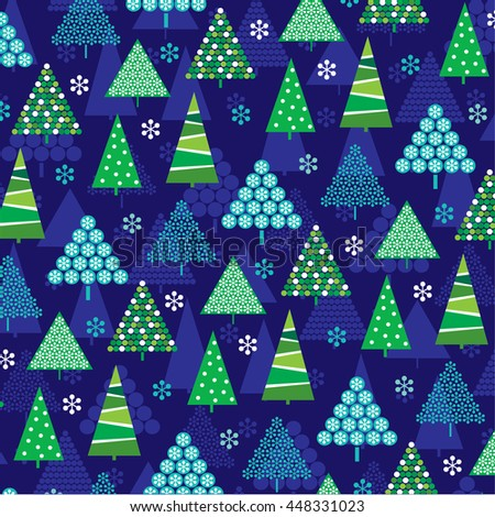 blue green christmas trees