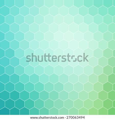 blue green colored hexagon