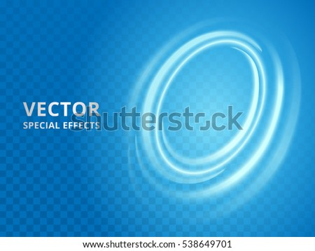 blue halo effect  abstract