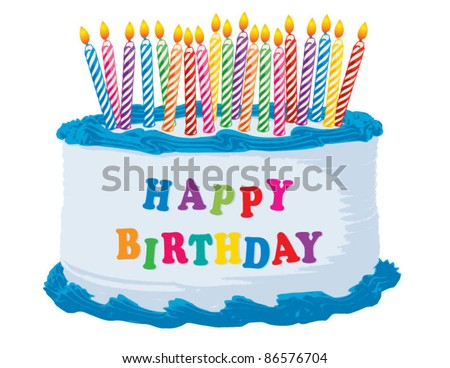 Birthday Cake Vector Download Free Vector Art Stock Graphics - Cartoon birthday cake images