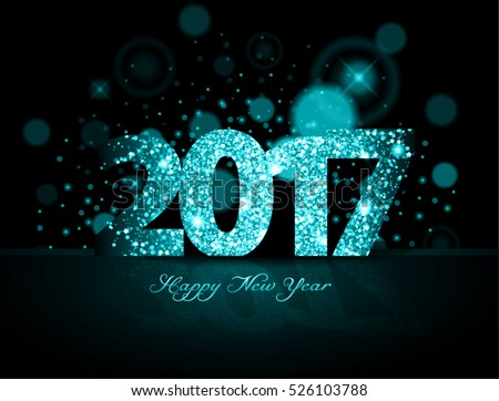 blue 2017 happy new year on the background