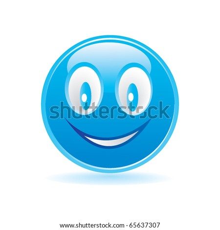 blue happy smiley