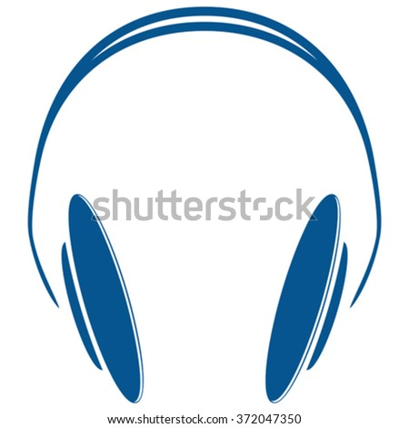blue headphones icon against