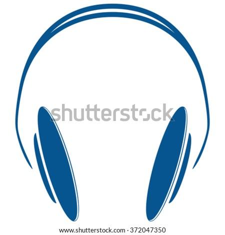 blue headphones icon against