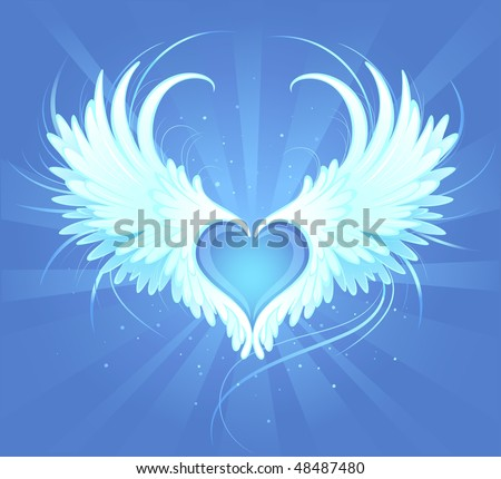 blue love heart background. stock vector : Blue heart of