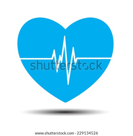 blue heart pulse monitor with