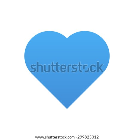 blue heart vector icon  modern