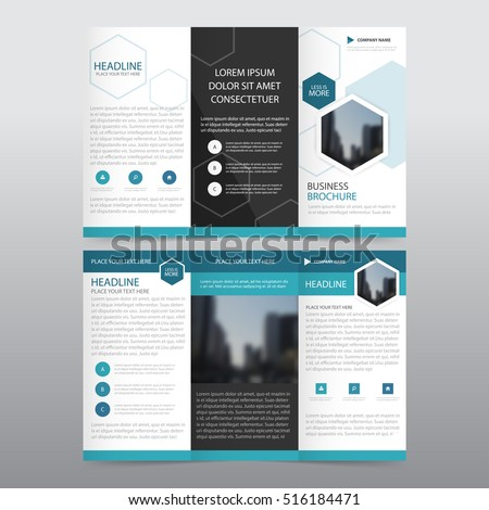 free tri fold brochure vector template - download free vector art, Presentation templates