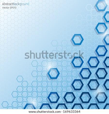 blue hexagonal honeycomb
