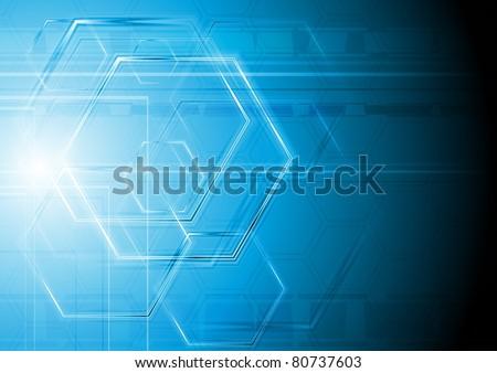 Blue hi-tech design. Vector illustration eps 10