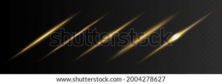 blue horizontal lens flares