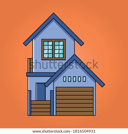 blue house house exterior
